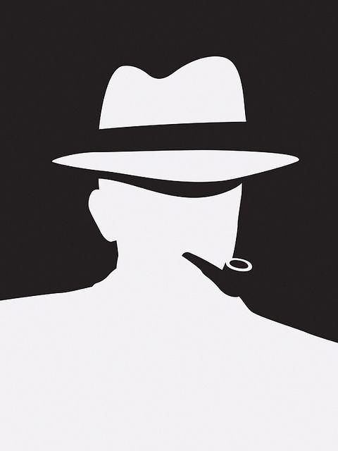 Detective silhouette.Very Raymond Chandler-Philip Marlowe.
