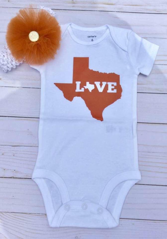 Texas/Baby Shower Gift/Love Texas/Gender Neutral Baby Gift/Baby Girl/Baby Boy/Austin/Born in Texas/Pregnancy Announcement by sunnyvilledesigns on Etsy https://www.etsy.com/listing/522473393/texasbaby-shower-giftlove-texasgender