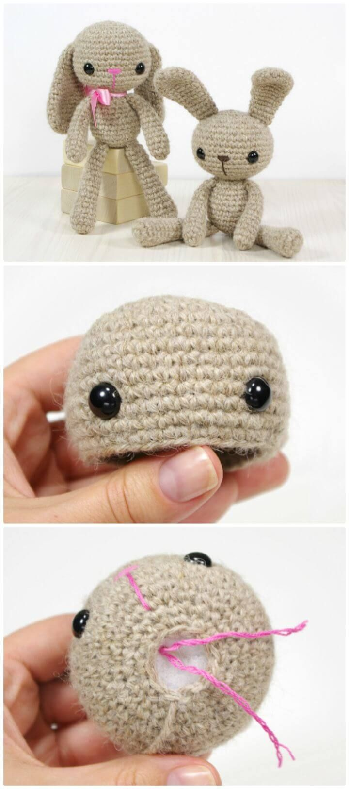 63 Free Crochet Bunny Amigurumi Patterns | amigurumi | Pinterest ...