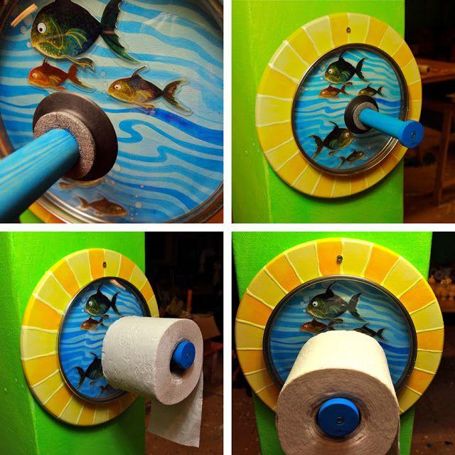 Toilet paper holder tutorial by Mareike Scharmer