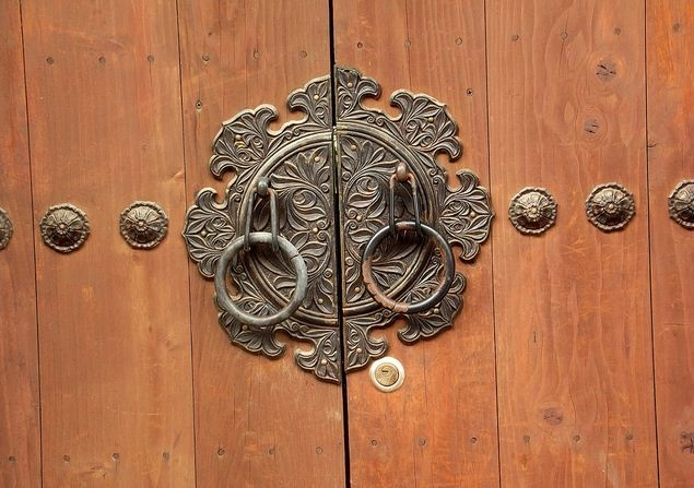 Door knob of a traditional house (hanok), Seoul, Korea
