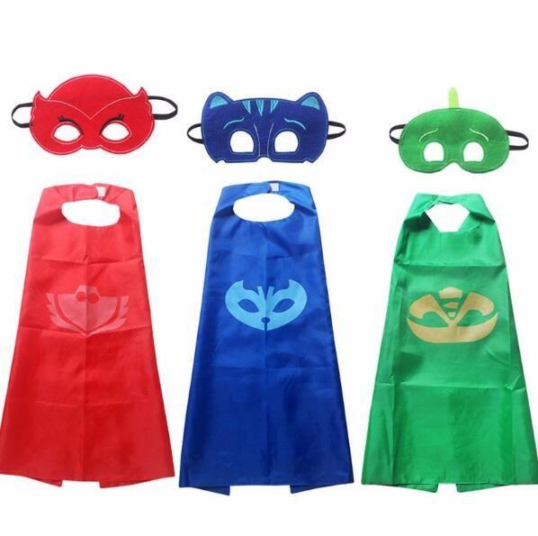 PJ Masks Role-play toys 2pcs-set PJ Masks cloak and Mask cosplay action toys for children PJ Mask cosplay toys