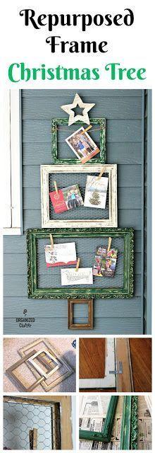 Thrift Shop Picture Frame Christmas Tree organizedclutter.net
