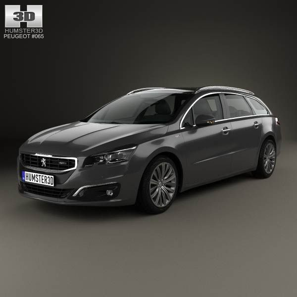 Peugeot 508 SW 2014 3d model from humster3d.com. Price: $75