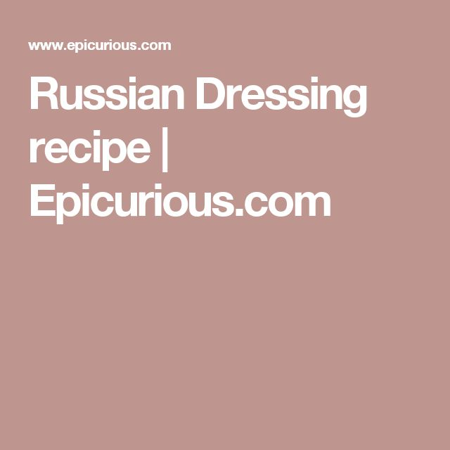 Recipe russian dressing easy