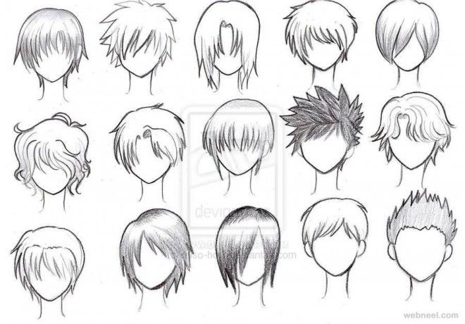 How To Draw Anime Boy Hair Step By Step For Beginners Anime Boy Hair Anime Character Drawing Anime Hair