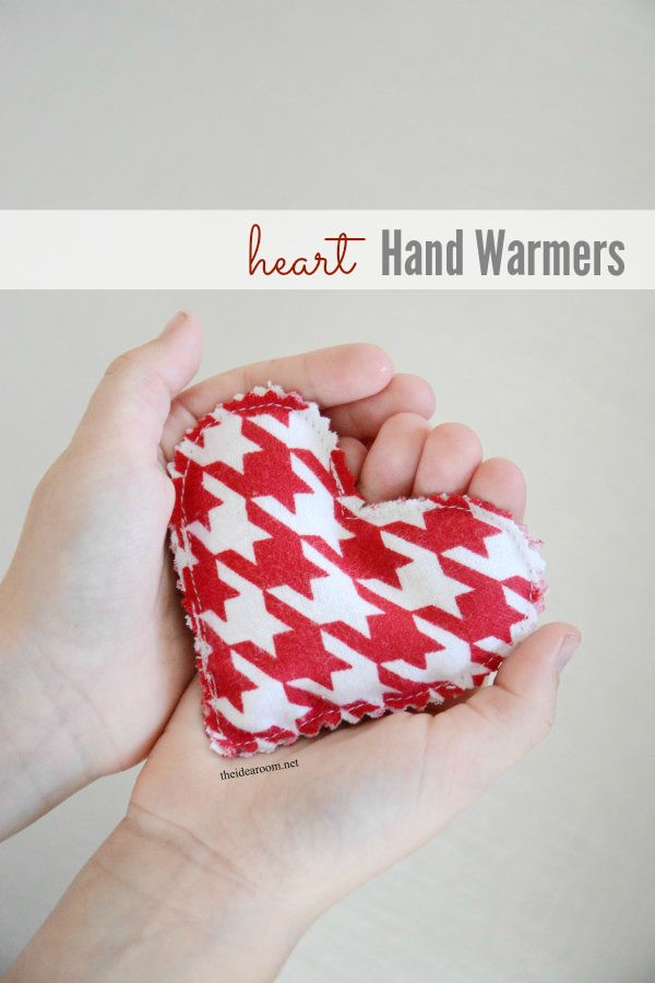 Heart Hand Warmers. Cute gift for Valentine's day for a friend.