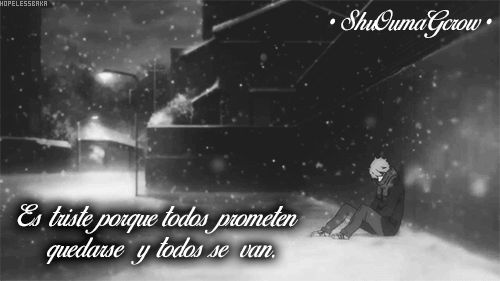 Es triste #ShuOumaGcrow #Anime #Frases_anime #frases