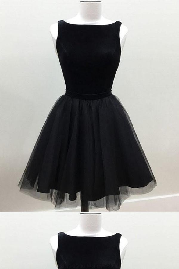 Hot Black Short Prom Dresses