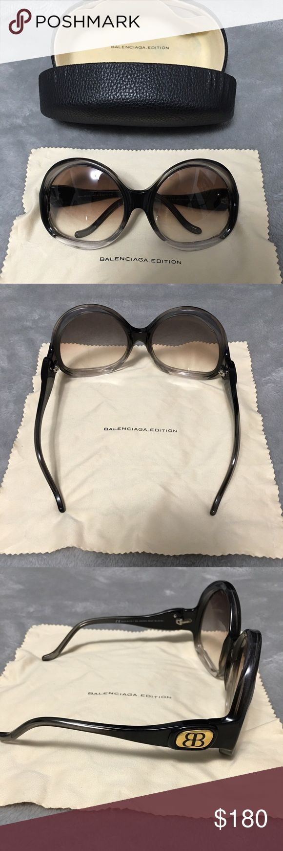 Balenciaga sunglasses Gorgeous sunglasses by Balenciaga seen on Kris Jenner & JLo. There are no defects to these but the case as alittle peeling on the inside. Balenciaga Accessories Sunglasses
