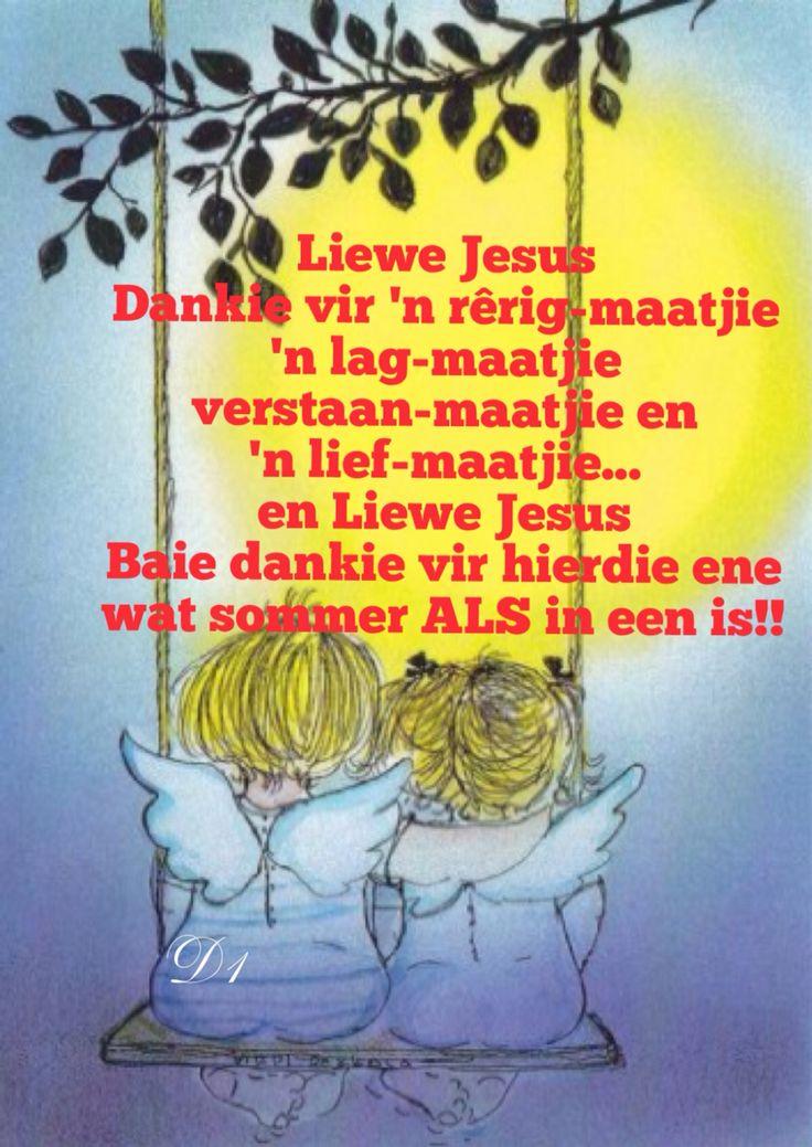 Afrikaans:  gebed - vriendskap