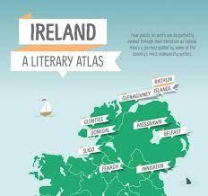 A literary atlas in a map.  Ireland     Notre Dame:  Programa en una de las escuelas privadas de mayor prestigio de Dublín, Irlanda.  También se pueden hacer clases profesionales de fútbol, tenis, equitación, golf o rugby a tu programa.    #WeLoveBS #inglés #idiomas #Irlanda #Ireland #Dublin #DunDrum