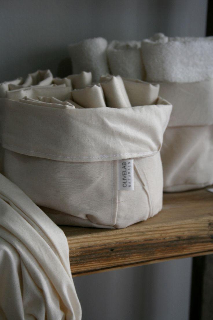 handmade cotton bread basket