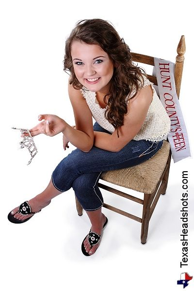 Dallas Fort Worth Pageant Photography - Miss Hunt County Teen Crown Shot Pageant Queen