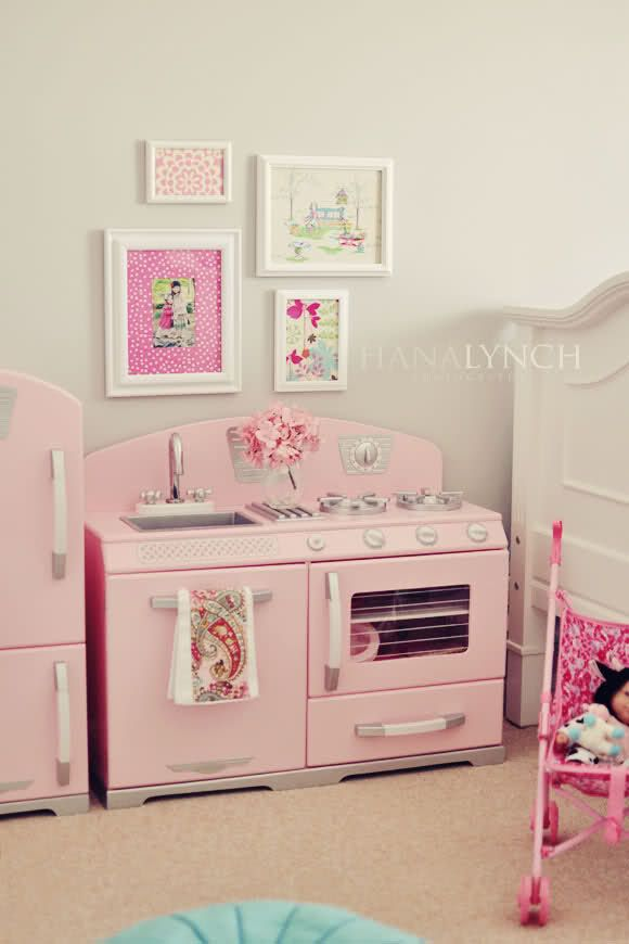 18 best images about home a room for the girls on pinterest for Kids kitchen set for girls