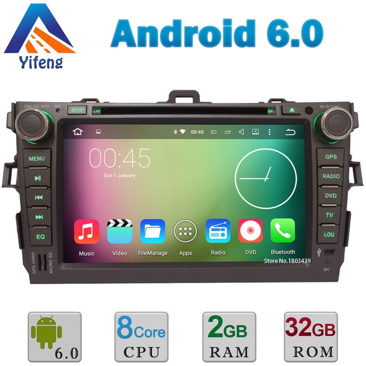 "Octa Core A53 2GB RAM 32GB ROM 8"" Android 6.0.1 Car DVD Multimedia Player Radio Stereo GPS Navigation DAB RDS For TOYOTA Corolla"