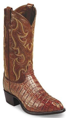 Tony Lama Mens Cowboy Boots Almond Royal Hornback Caiman Tail  BootCity.com. Oh boy!