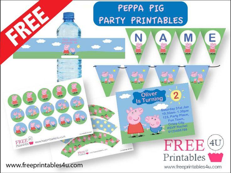 Peppa Pig FREE Printables freeprintables4u.com
