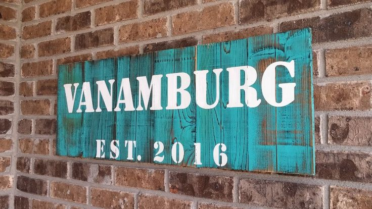 Personalized Housewarming Gift, Rustic Name Signs, Hand Painted Name Sign, Farmhouse Sign, Handmade Wooden Sign, Family Name Sign, TURQUOISE - pinned by pin4etsy.com