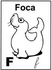 letra f alfabeto para colorir