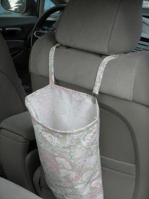sacchetto per la spazzatura da auto fai da te - diy auto automobile