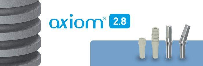 Axiom® 2.8 ofera o gama protetica unica, cuprinzatoare, care satisfice toate preferintele si nevoile chirurgicale:      4 angulatii: 0°; 7°; 15° si 23°     Coroana poate fi cimentata extraoral     PEEK Bont temporar disponibil
