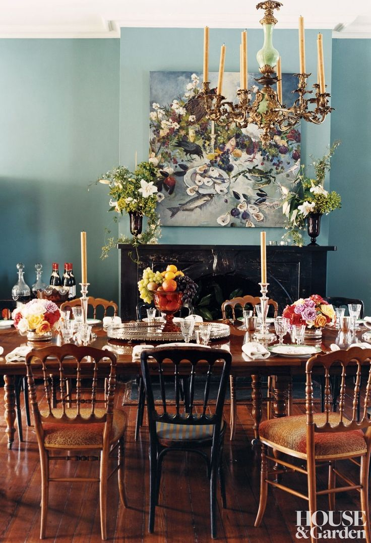The Dining Room Of A New Orleans Home Feels Like Lush Romantic Garden