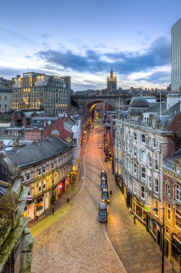 Dean Street, Tyne Bridge in Newcastle Upon Tyne, England