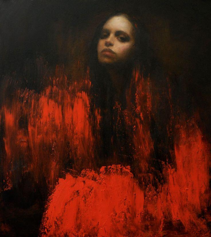 Mark Demsteader Moorland Path Oil on Board 100 x 90 cm  #Art #Painting #Portrait
