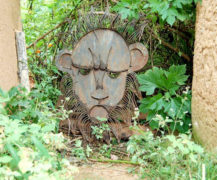 Lion Head, metal artwork at MoTNA, Jos, Nigeria