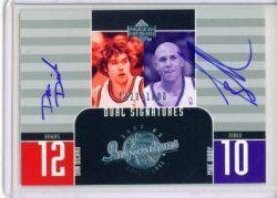 Dan Dickau/Mike Bibby Autograph card 0220/1600 2002-03 UD. Card #139