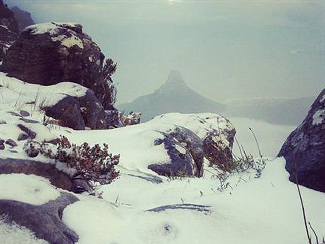 Cape Winter Storms | Snow on Table Mountain Photo: tablemountain.net