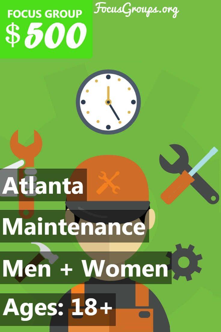 Focus Group On Maintenance And Repair In Atlanta Focus Group Group Study Research Studies