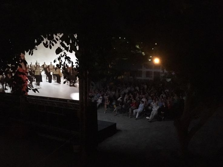 Open air cinema in Skala, Patmos!