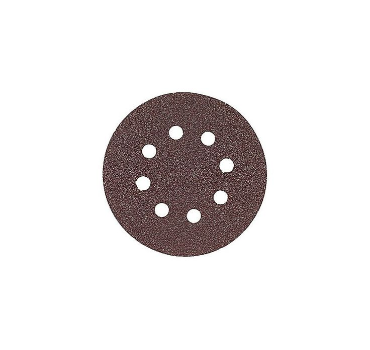 """Bosch SR6R320 5"""" Hook & Loop 6 Hole Red Sanding Disc with 320 Grit (Pack of 5) Material Removal Accessories Sander Accessories Sanding Discs"""