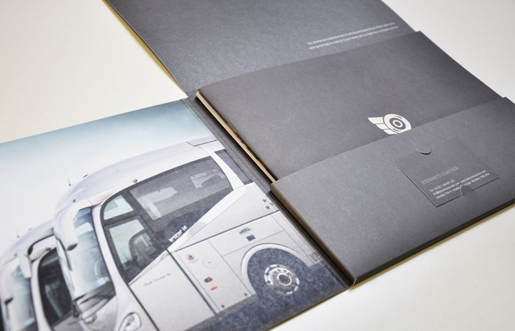 Pocketed oversized A4 brochure with foiling to the front and separate inserts by Theme
