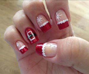 Decoración en las uñas de Navidad   :)