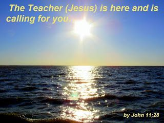 HOLY WORDS: JESUS IS CALLING YOU: