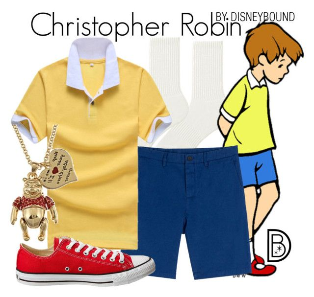 """Christopher Robin"" by leslieakay ❤ liked on Polyvore featuring Uniqlo, Michael Kors, Converse, Disney, men's fashion, menswear, disney and disneybound"