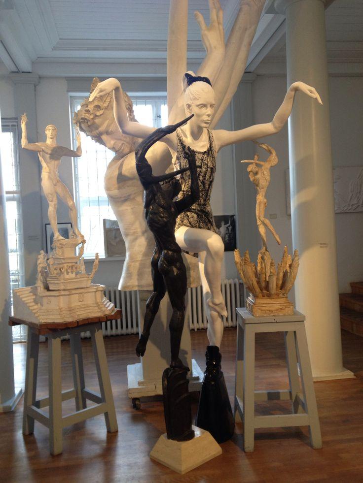 Statues made by Carl Milles and Cajsa von Zeipel, Millesgården at Lidingö, Stockholm.