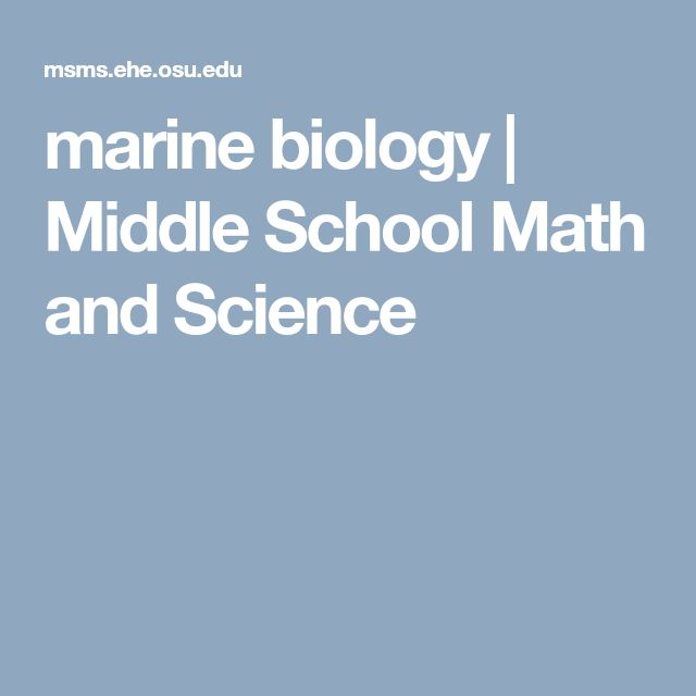 marine biology | Middle School Math and Science