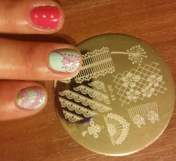 $2.99 Elegant Lace Nail Art Stamping Template Image Plate BORN PRETTY BP44 - BornPrettyStore.com