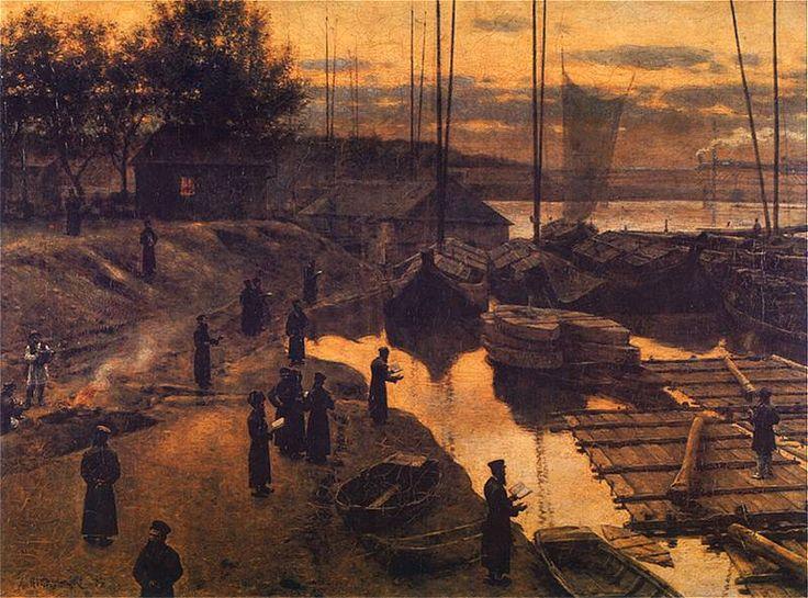 Aleksander Gierymski, Święto trąbek I, 1884, 64,5 x 47, MNW