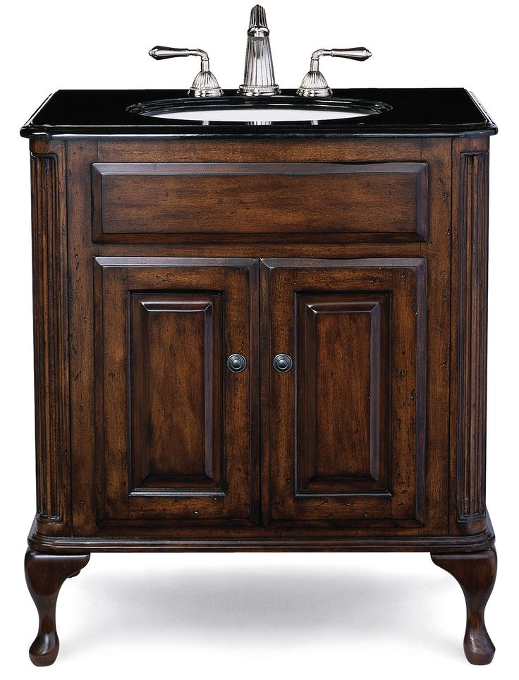 Cole + Co. Classic-Estate Medium Vanity Package with Bella Crema Top and Biscuit Sink