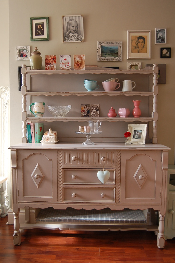 Vintage Dresser hand painted and distressed in F, Dove Tale...: Chiffonier, Shabby Chic Farmhouse, Vintage Dressers, Design Ideas,  Commode, Kitchens Ideas, Farmhouse Kitchens, Shabby Life, Dressers Hands