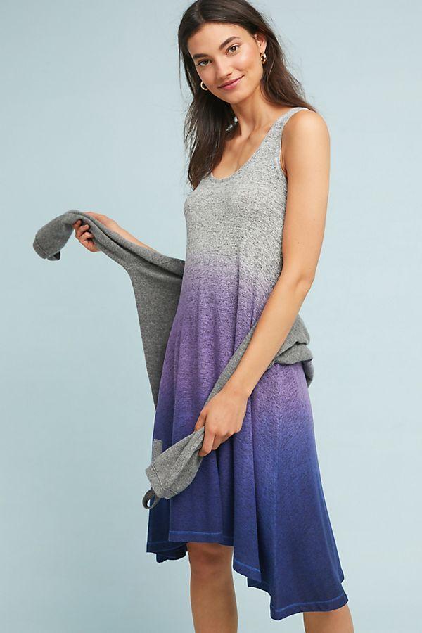 8dc60d787d1a Slide View: 1: Ombre-Striped Brushed Fleece Dress | Weekend Clothes