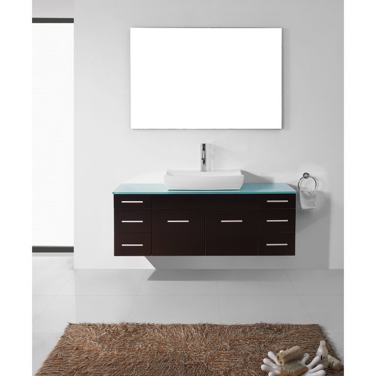The Art Gallery Virtu USA Biagio Espresso Single Sink Bathroom Vanity