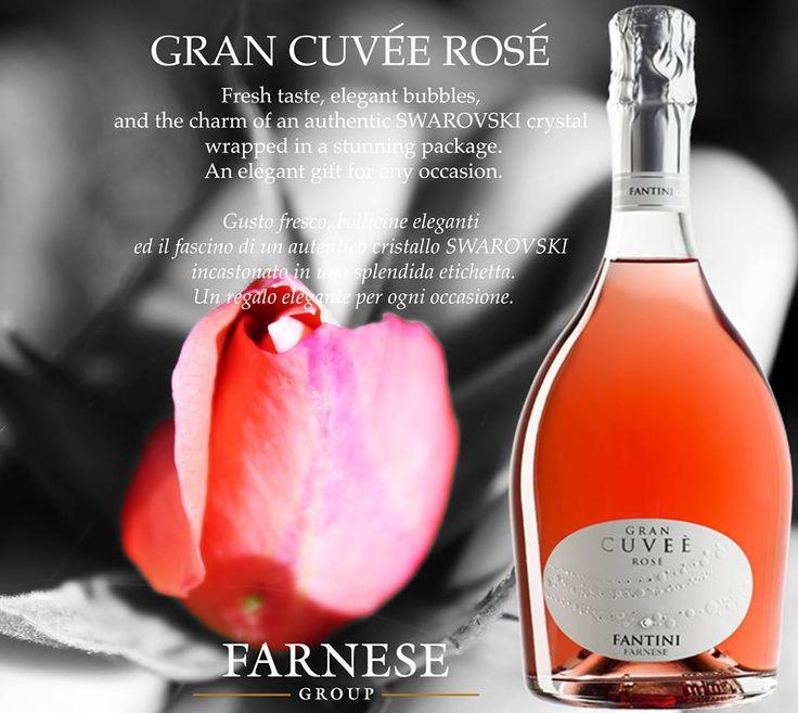 Gran Cuvée Rosé. An elegant gift for any occasion. Un regalo elegante per ogni occasione .#Farnesevini, #vino, #wine, #vin, #vinoitaliano, #italianwine, #vinitalien, #Farnese,  #sparkling, #sparklingwine, #swarovski, #christmasgift, #chrisrmas, #winelover, #fantini, #vinifantini, #roséwine