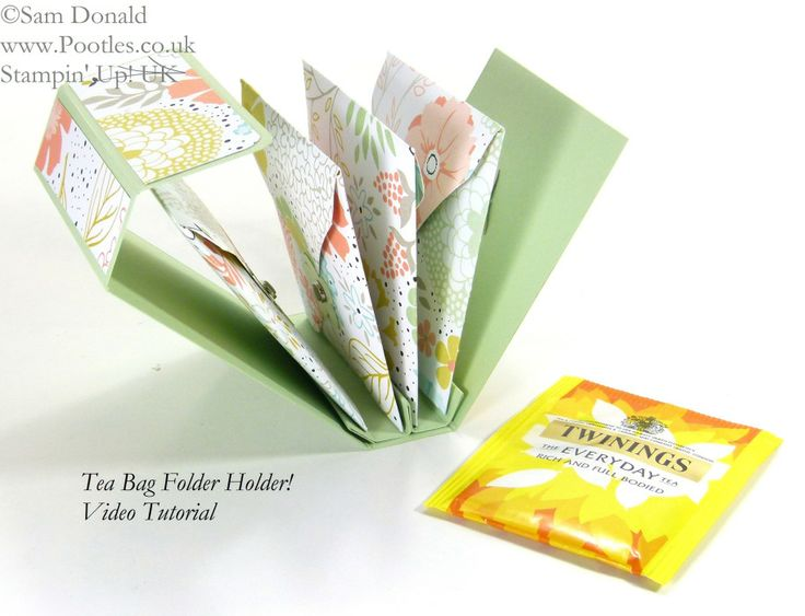 POOTLES Stampin' Up! UK Tea Bag Holder Folder Tutorial open