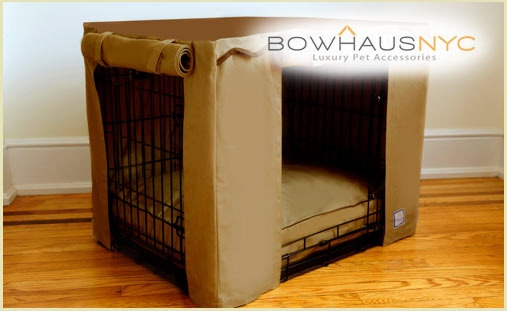 gone are the days of drab looking dog beds keep your dog s crate looking fresh with a bowhaus. Black Bedroom Furniture Sets. Home Design Ideas